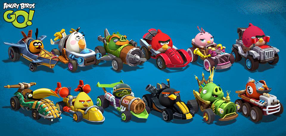 Personnages du jeu Angry Birds Go !